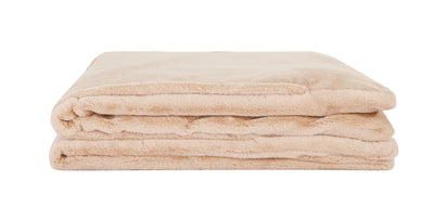 "Weighted Fur Faux Blankets - Neutral - 48""X74"""