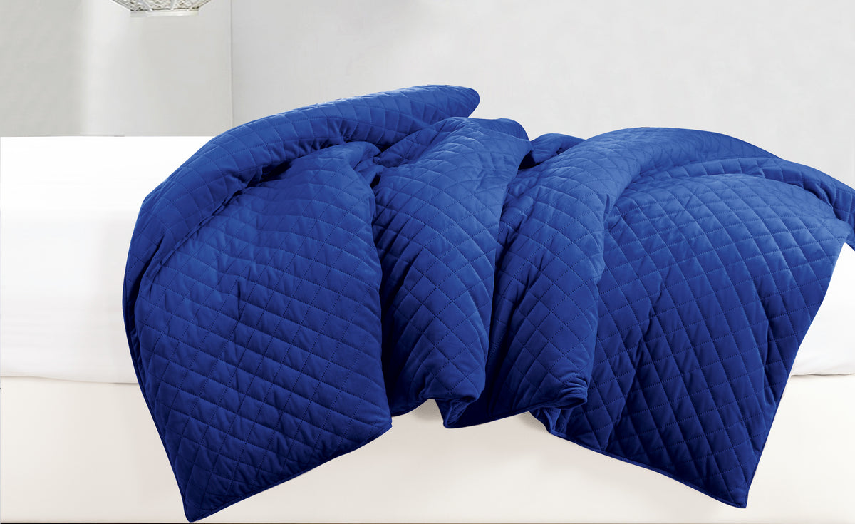"Velvet Weighted Blanket - Electric Blue - 48""X74"""