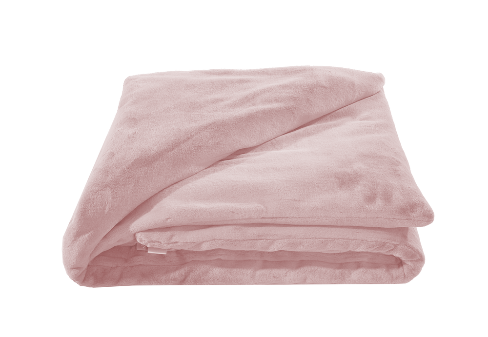 "Weighted Fur Faux Blankets - Blush - 48""X74"""