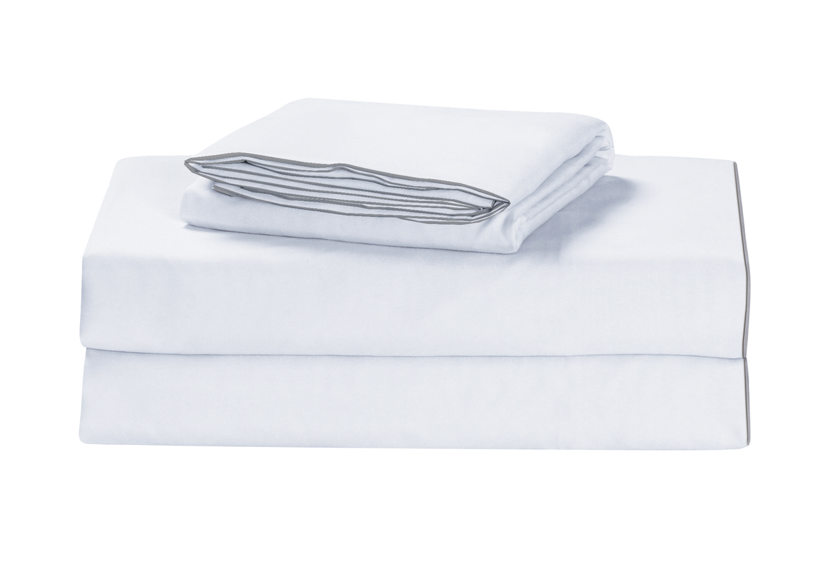 Comfitude Duvet Cover with Grey Trim and Two Shams: Recommended for use with our comforters