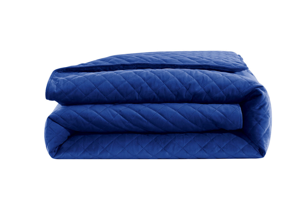 "Velvet Weighted Blanket - Electric Blue - 48""X74"" -  pre-sale for January 31st shipment"