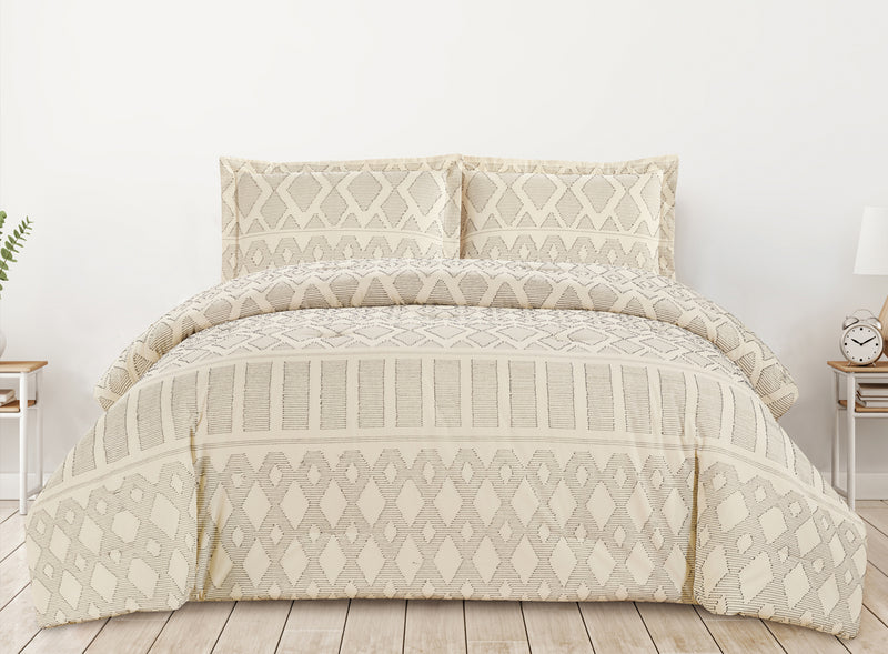 Cotton Comforter 3 Piece Set - Tribal