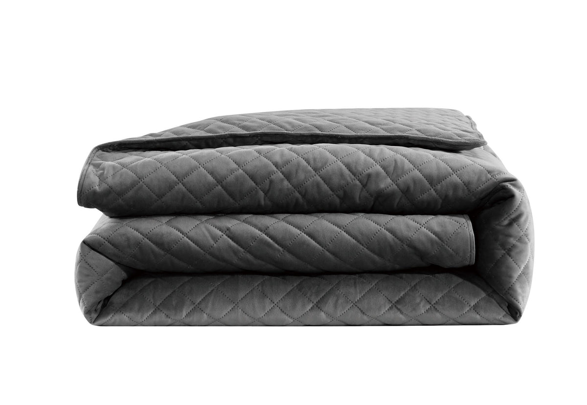 "Velvet Weighted Blanket - Charcoal - 48""X74"""