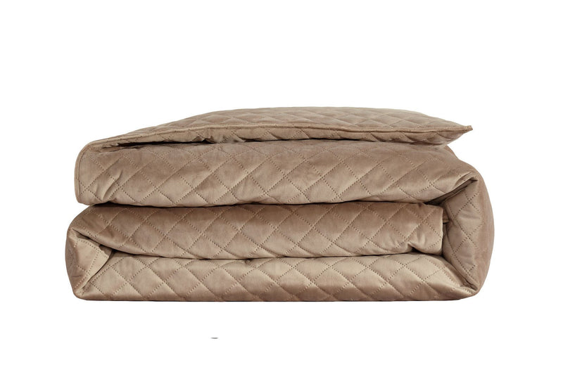 "Velvet Weighted Blanket - Taupe - 48""X74"""