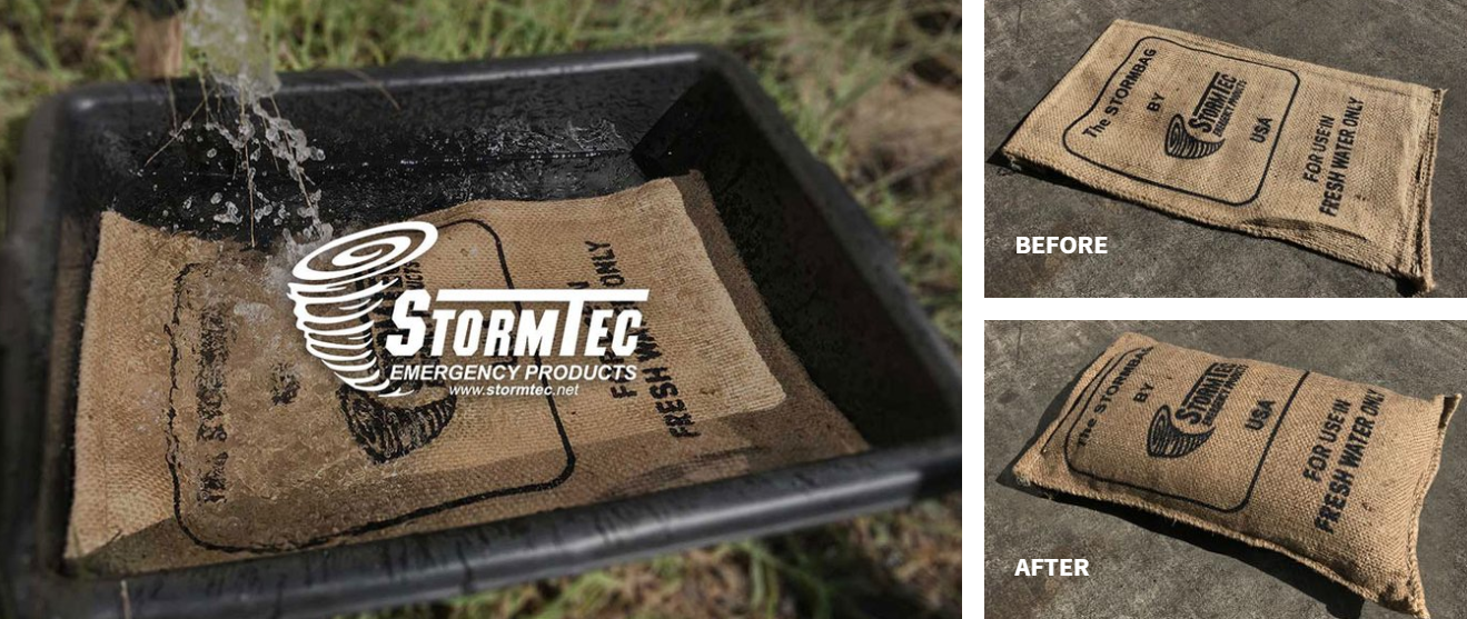 Sandless Sandbags Wholesale StormBags by StormTec