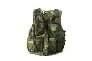 NATO Woodland Tactical Vest With Small Pack