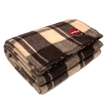 Load image into Gallery viewer, New Plaid Wool Blanket (Brown)
