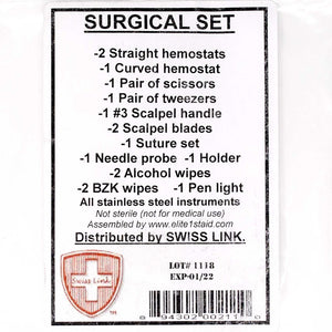 New Stainless Steel Surgical Set [2 sets/unit]