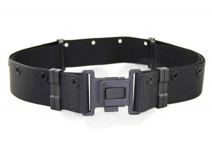 New Italian Black Web Belt