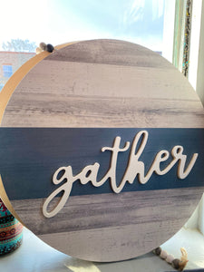 Round Gather Sign