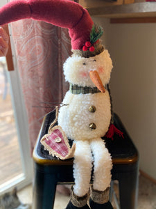 Shelf Sitting Snowman