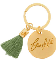 Load image into Gallery viewer, Karma Round Tassel Keychains