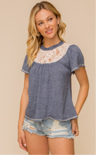 Load image into Gallery viewer, Lace Ruffle Sleeve Knit