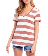 Load image into Gallery viewer, Fornia Striped V Neck