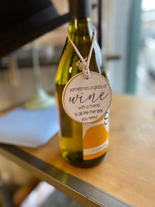 Wooden Wine Bottle Charm