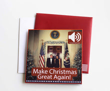 Load image into Gallery viewer, Talking Trump Christmas Card - Crusader Outlet