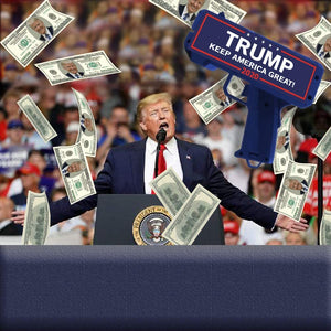 Donald Trump Money Gun With 100 Trump Dollar Bills - Crusader Outlet