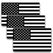 Load image into Gallery viewer, American Flag Black and White Decal (Pack of 3)