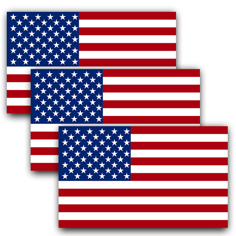 American Flag Decal (Pack of 3)