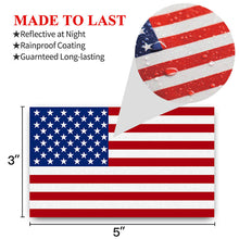 Load image into Gallery viewer, American Flag Decal (Pack of 3)