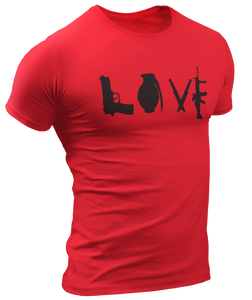 Love Guns Tee - Crusader Outlet