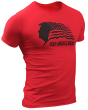 Load image into Gallery viewer, Keep America Great Trump USA Flag Tee - Crusader Outlet
