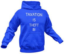 Load image into Gallery viewer, Taxation Is Theft AOC Parody Hoodie