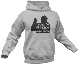 Make America Great Again Silhouette Hoodie - Crusader Outlet