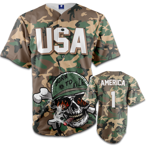 Born To Kill Baseball Jersey - Crusader Outlet