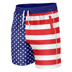 American Flag Swim Trunks - Crusader Outlet