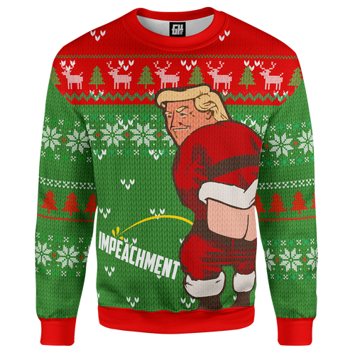 Trump ImPEEchment Christmas Sweater - Crusader Outlet