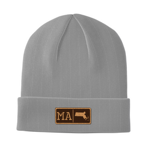 Massachusetts Leather Patch Homegrown Beanie