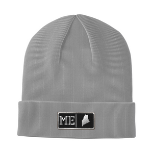 Maine Black Leather Patch Homegrown Beanie
