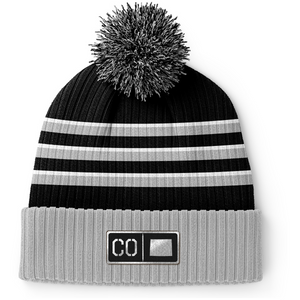 Colorado Black Leather Patch Homegrown Beanie
