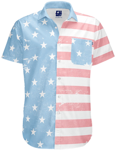 Faded Old Glory Button Down - Crusader Outlet