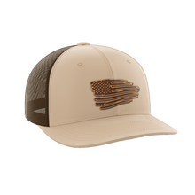 Load image into Gallery viewer, Torn Flag Leather Patch Hat
