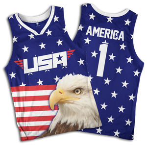 Eagle America #1 Basketball Jersey - Crusader Outlet