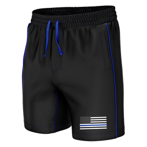 Thin Blue Line Swim Trunks - Crusader Outlet