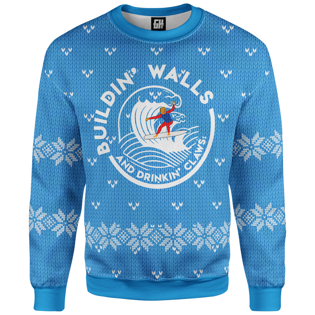 Building Walls Christmas Sweater - Crusader Outlet