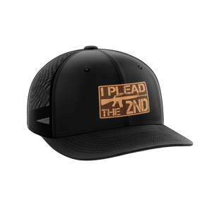 I Plead The 2nd Leather Patch Hat - Crusader Outlet