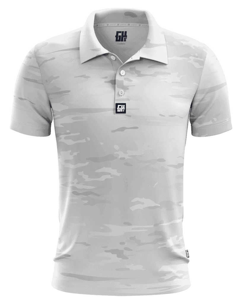 Arctic Camo Golf Polo - Crusader Outlet