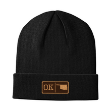Load image into Gallery viewer, Oklahoma Leather Patch Homegrown Beanie
