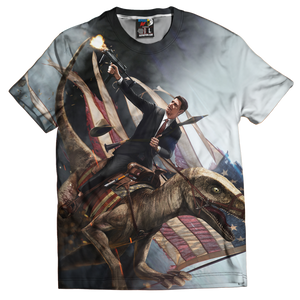 Ronald Reagan Velociraptor ZOOM Tee - Crusader Outlet