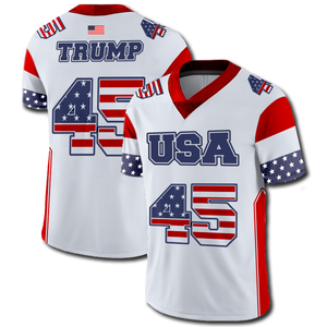 Trump #45 Football Jersey - Crusader Outlet