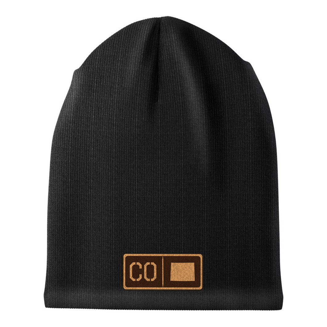 Colorado Leather Patch Homegrown Beanie