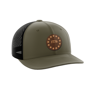 1776 Stars Leather Patch Hat - Crusader Outlet