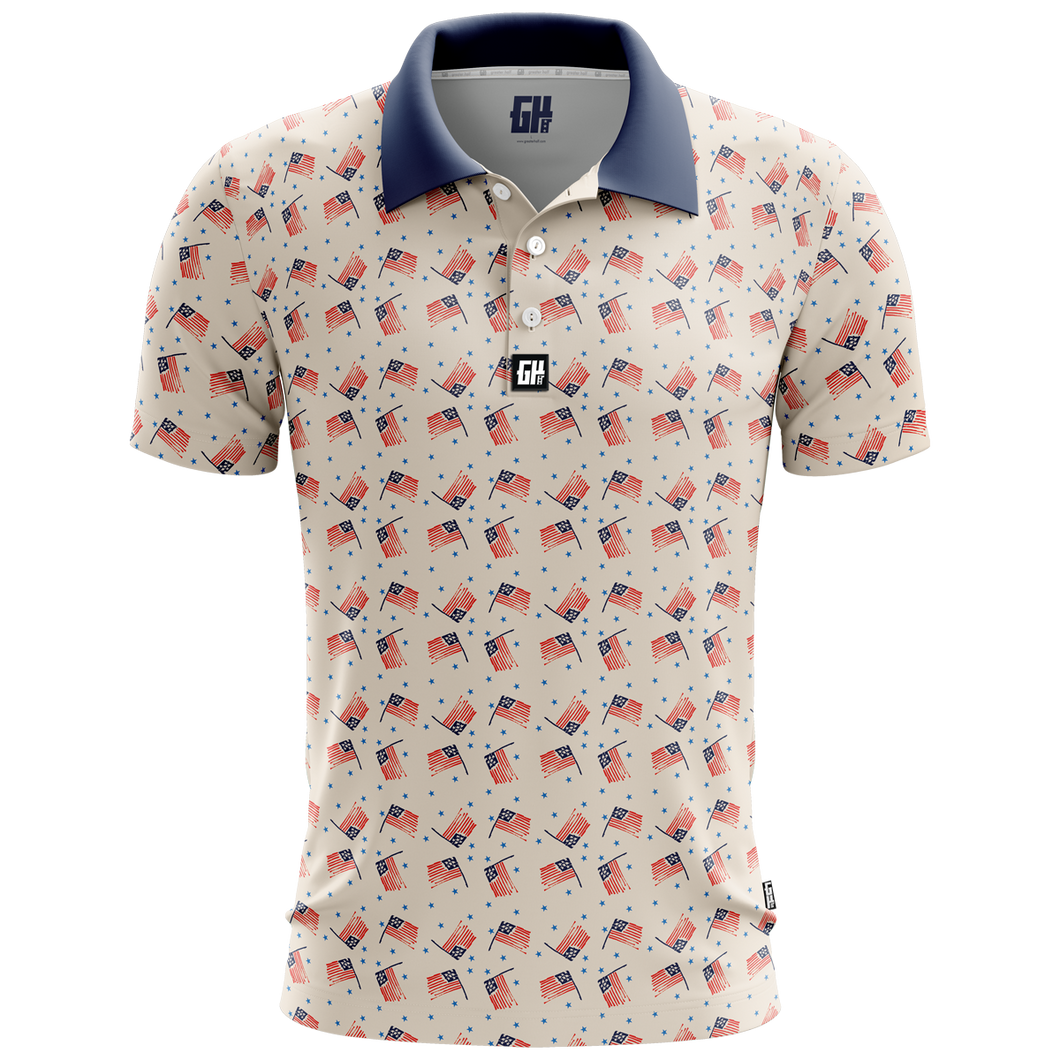 America Vintage Golf Polo - Crusader Outlet