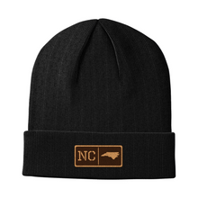 Load image into Gallery viewer, North Carolina Leather Patch Homegrown Beanie