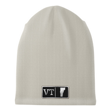 Load image into Gallery viewer, Vermont Black Leather Patch Homegrown Beanie