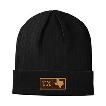 Load image into Gallery viewer, Texas Leather Patch Homegrown Beanie